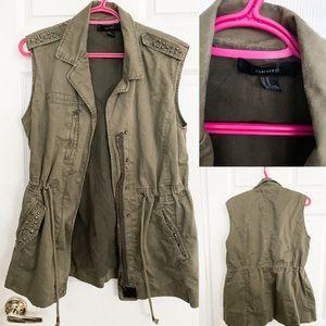 Forever 21 Camo Vest w/ Gold Hardware